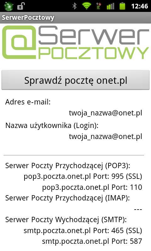 SerwerPocztowy - Poczta e-mail- screenshot