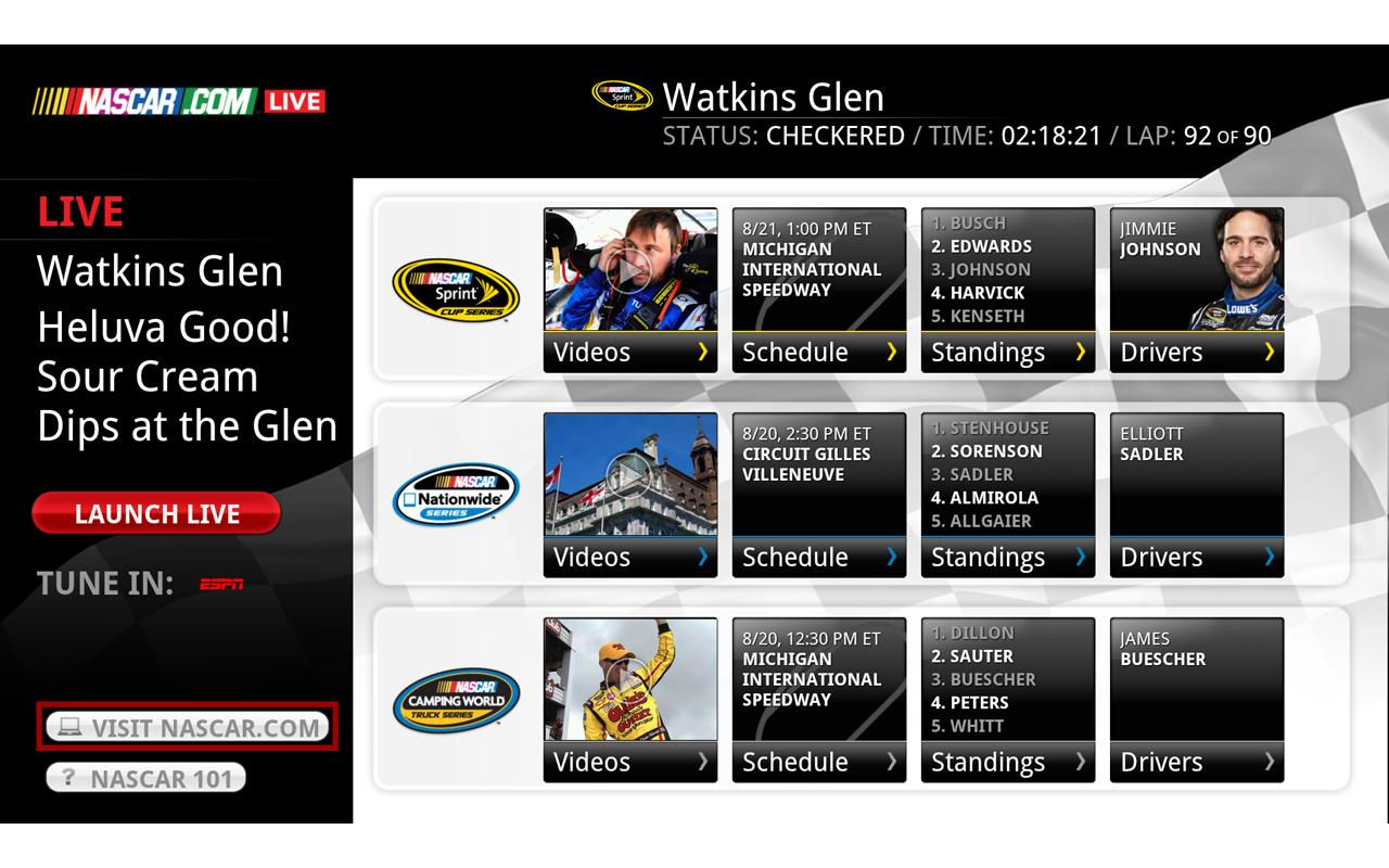 NASCAR.COM LIVE - screenshot