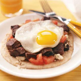 Mediterranean Steak & Egg Pitas.