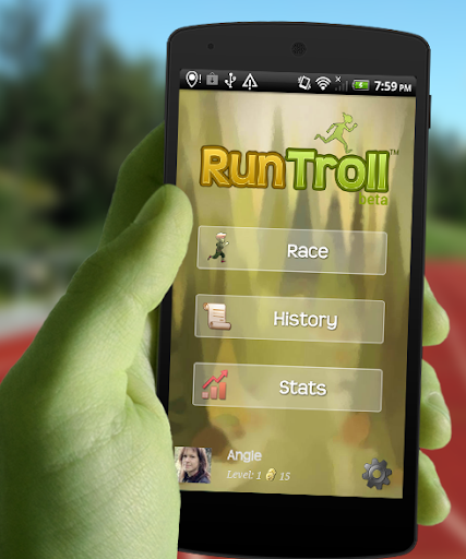 RunTroll - GPS running race