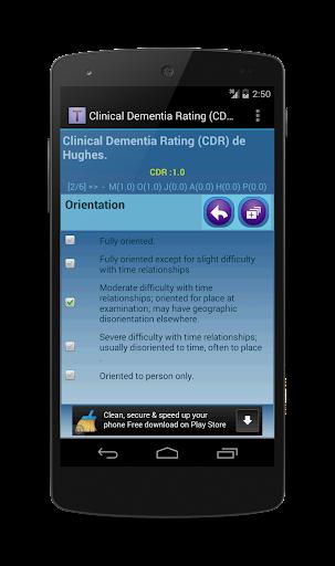 CDR - Dementia Rating Hughes