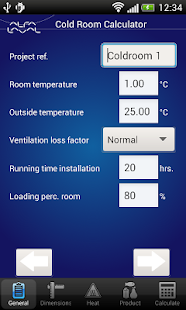 Cold Room Calculator - screenshot thumbnail