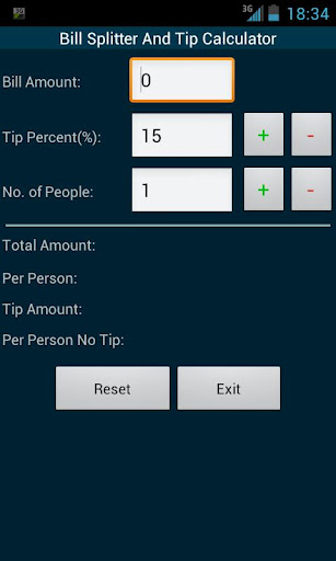 Bill Split And Tip Calculator