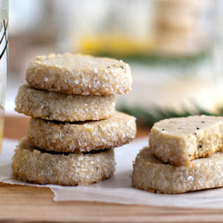 Rosemary Lemon Shortbread Cookies.