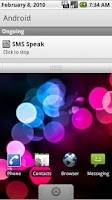 Screenshot of SMS Speak
