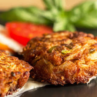 Green Chile Crab Cakes with Horseradish Sauce.