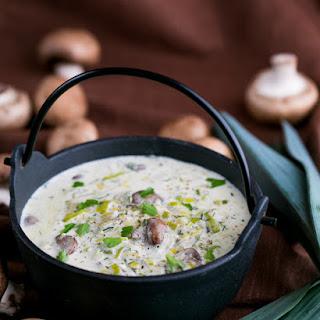 Creamy Mushroom and Leek Pasta