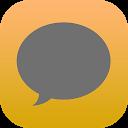 EvolveSMS Dark iOS Orange APK
