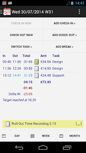 Time Recording - Timesheet App Screenshot