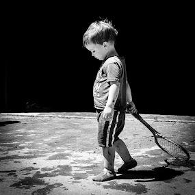 Muddy by Will Ballew - Babies & Children Children Candids ( muddy, racket, little boy, dirty, toddler, boy, dirty dash, kid )