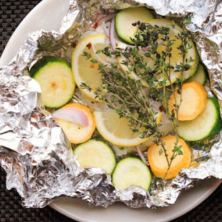 Baked Cod and Summer Squash in Foil Packets