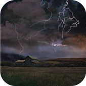 Farm in Thunderstorm Free