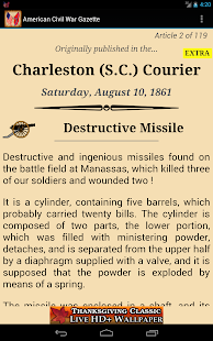 1861 Aug Am Civil War Gazette - screenshot thumbnail