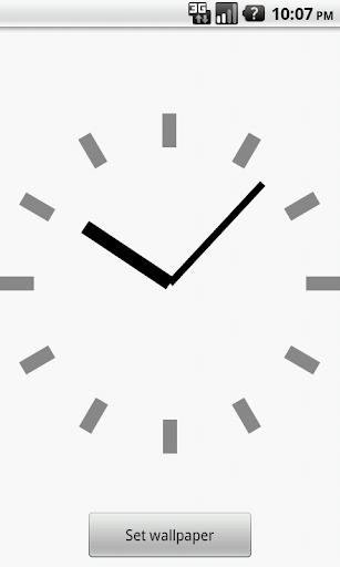 シンプル時計壁紙(白)
