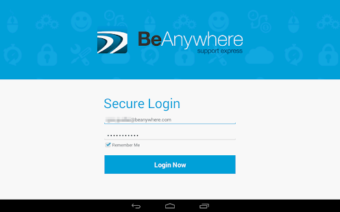 BeAnywhere Mobile Console- screenshot thumbnail