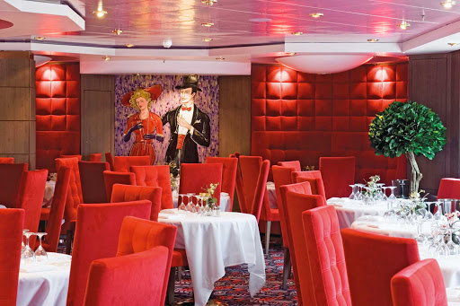 MSC-Musica-Le-Maxims-Restaurant -  Le Maxims, featuring Mediterranean and international fare as well as breads baked on board, is one of two main dining restaurants on MSC Musica.