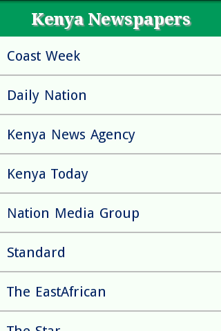 Kenya Newspaper Site List