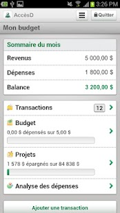 Desjardins mobile services - screenshot thumbnail
