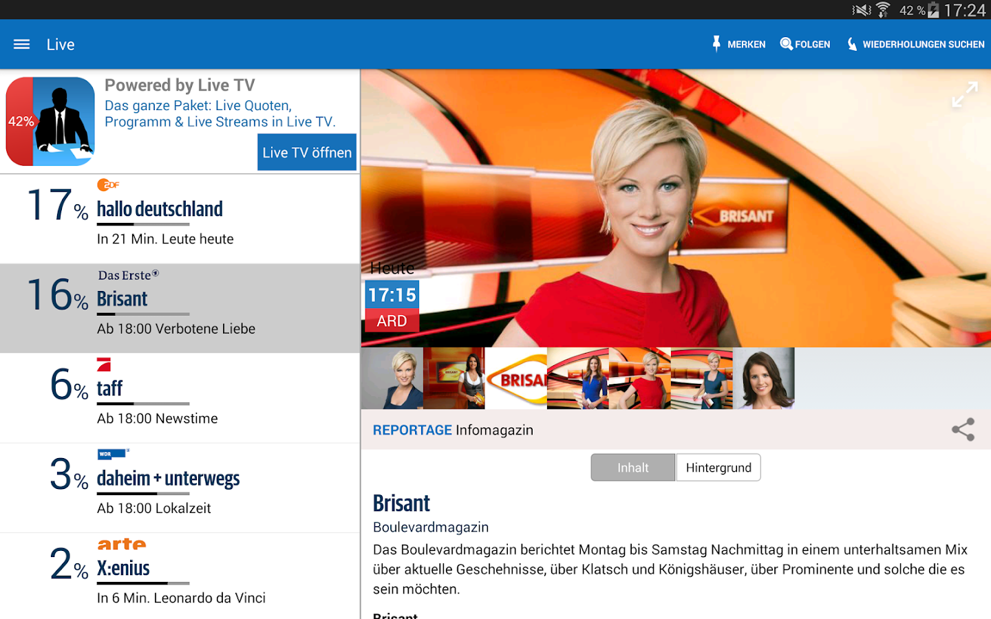 TV Programm TV Pro TV Magazin- screenshot
