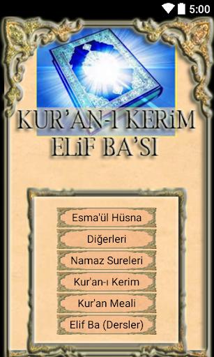 Sesli Elif Ba Kur'an Öğren