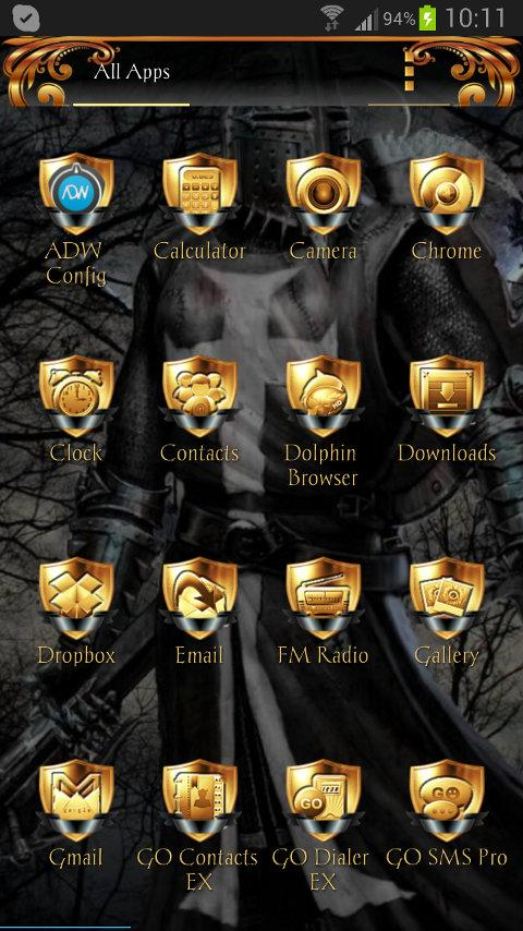 Black Knight ADWTheme- screenshot