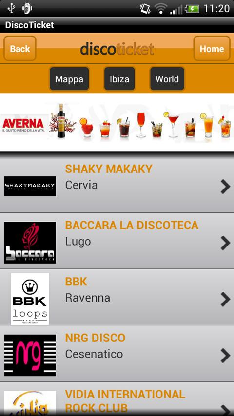 DiscoTicket discoteche eventi- screenshot