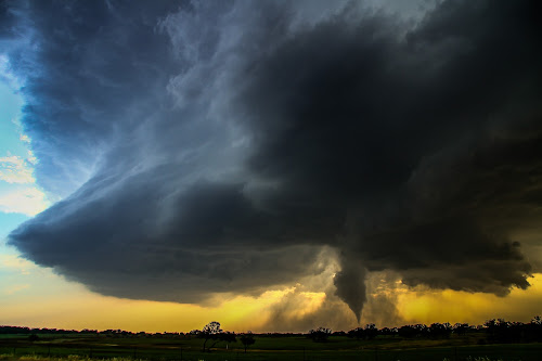 Peaceful Surrender by Robert Sinner-Storm Chaser - Landscapes Weather ( funnel, texas, supercell, storm, tornado, wall cloud )