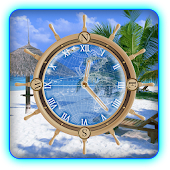 My Beach Clock Live Wallpaper
