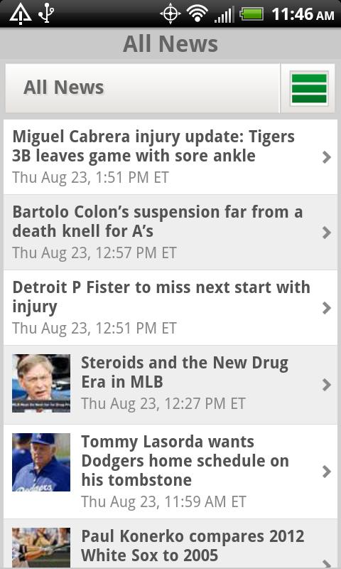 Sporting News Pro Baseball - screenshot