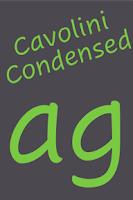 Screenshot of Cavolini Condensed FlipFont