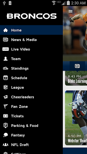 Denver Broncos 365 Screenshot