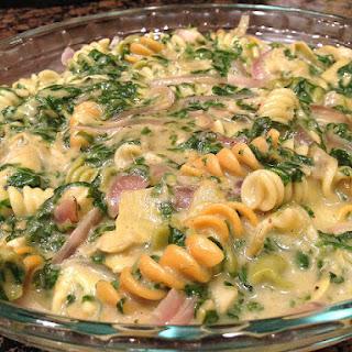 Creamy (No Cream) Spinach Artichoke Pasta