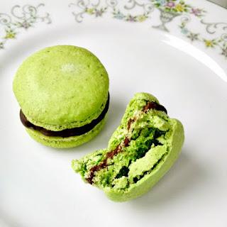 Pistachio Macaron with Passionfruit Ganache