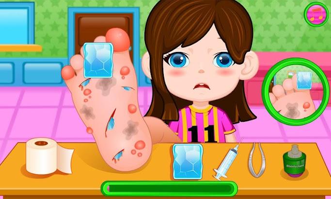 Big foot doctor game screenshot