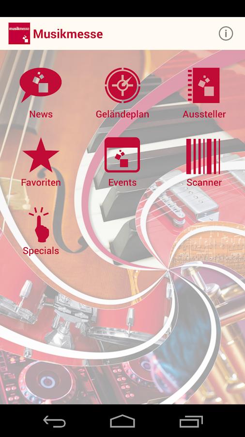 Musikmesse Navigator - screenshot