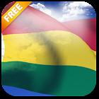 Bandera de Bolivia 3D Fondo animado icon