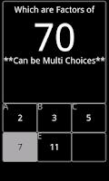 Screenshot of Math Choices