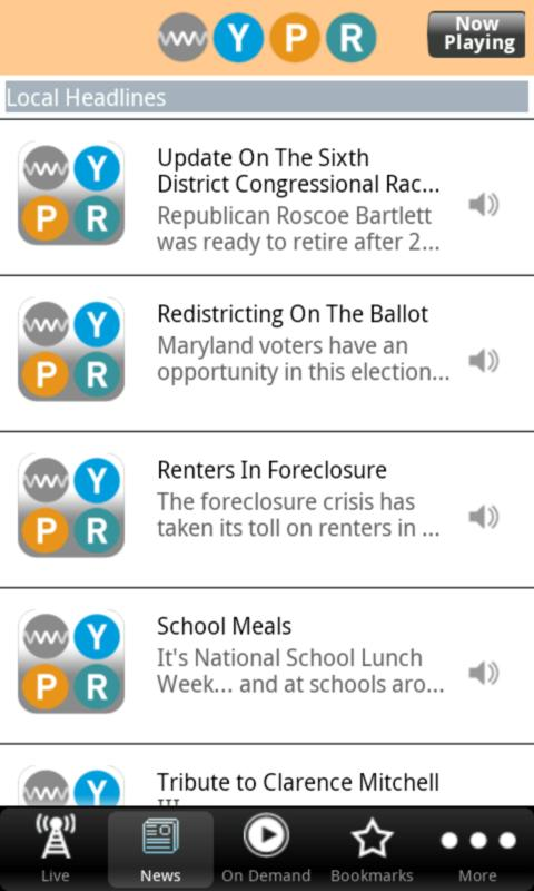 WYPR Public Radio App - screenshot
