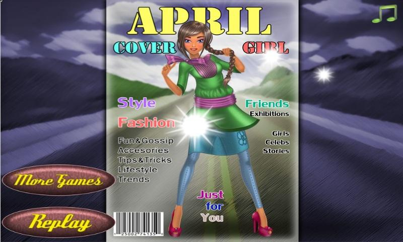 April Cover Girl Dressup - screenshot