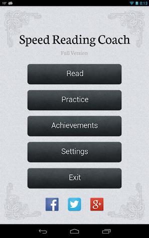 Speed Reader Screenshot