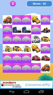 Kids Memory Game Cars Trucks