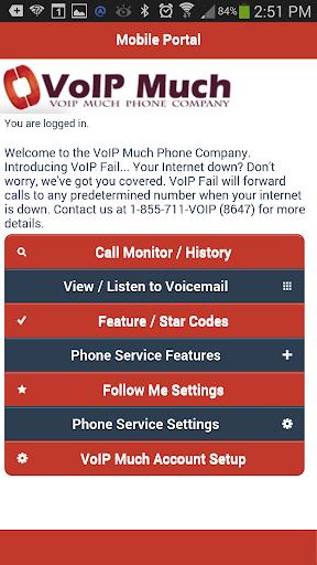 VoIP Much User Portal