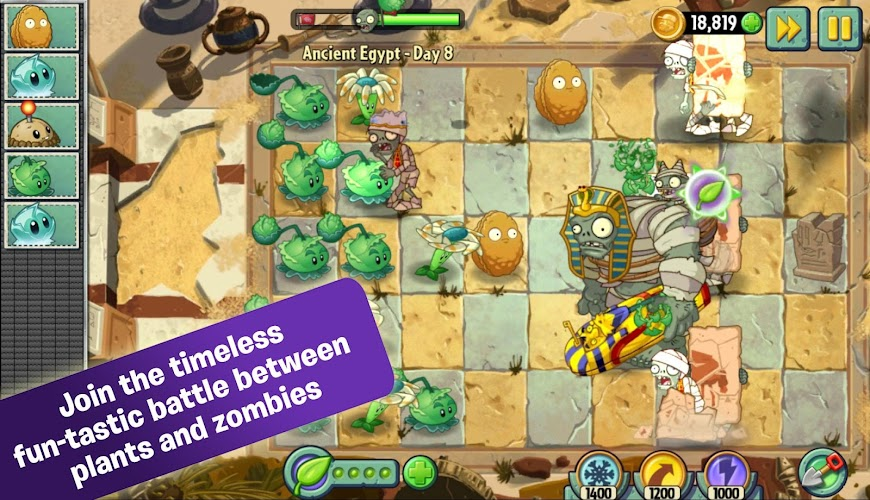 Plants vs. Zombies 2 v3.8.1 APK Mod (Free Shopping) - Cover