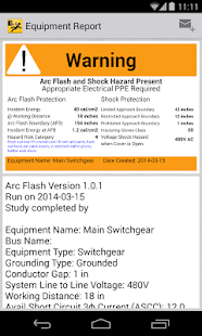 Arc Flash Calculator Labeling- screenshot thumbnail
