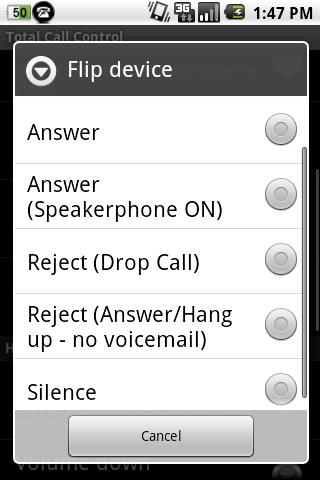 Total Call Control(Shake Call)- screenshot