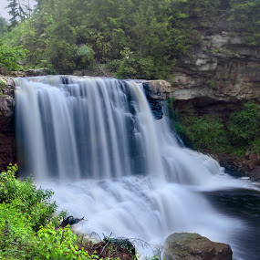 Blackwater Falls II by Glen Fortner - Landscapes Waterscapes ( nature, waterfall, appalachia, long exposure, portrait )