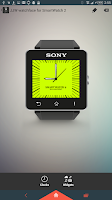 Screenshot of Square Clock1 for SmartWatch 2