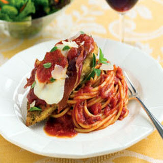 Baked Chicken Saltimbocca.