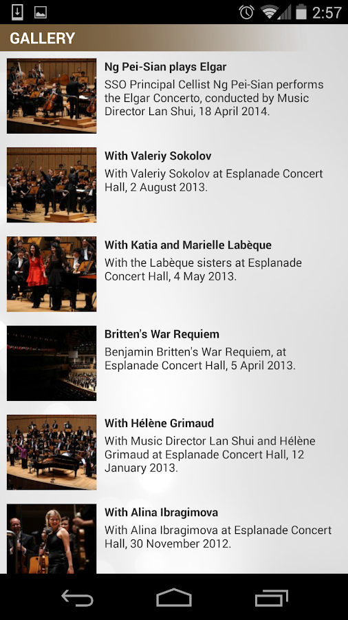 Singapore Symphony Orchestra- screenshot