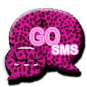 Pink Cheetah theme GO SMS PRO